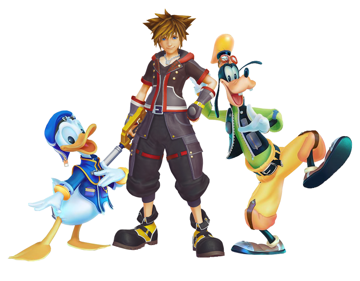 Sora donald and goofy png. With in his kh