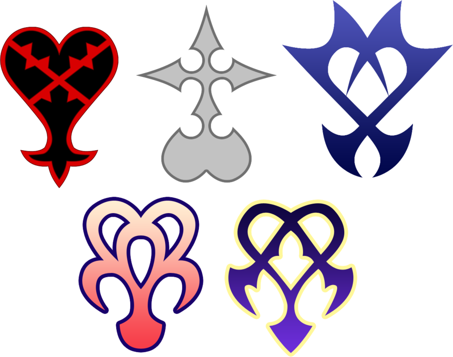 Kingdom hearts heart png. Image the known enemies