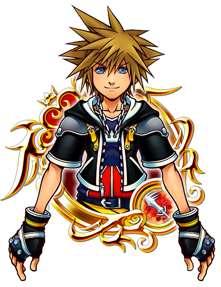 Kingdom hearts sora png. Illustrated kh ii unchained