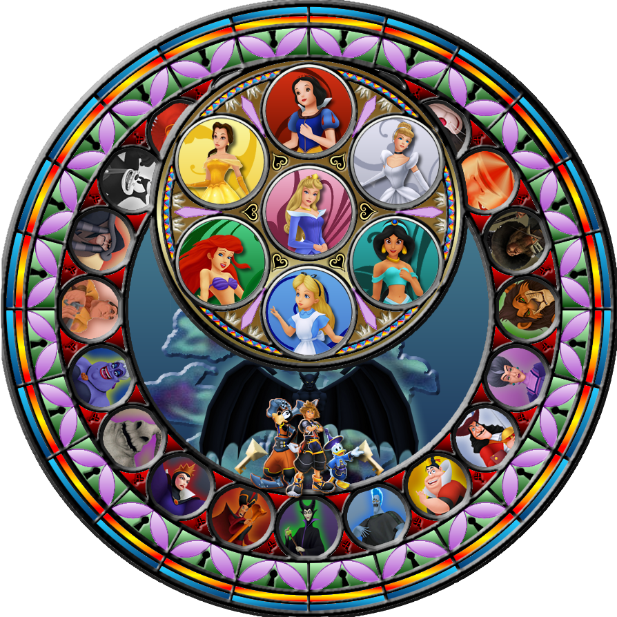 Kingdom hearts stained glass png. By maleficent on deviantart