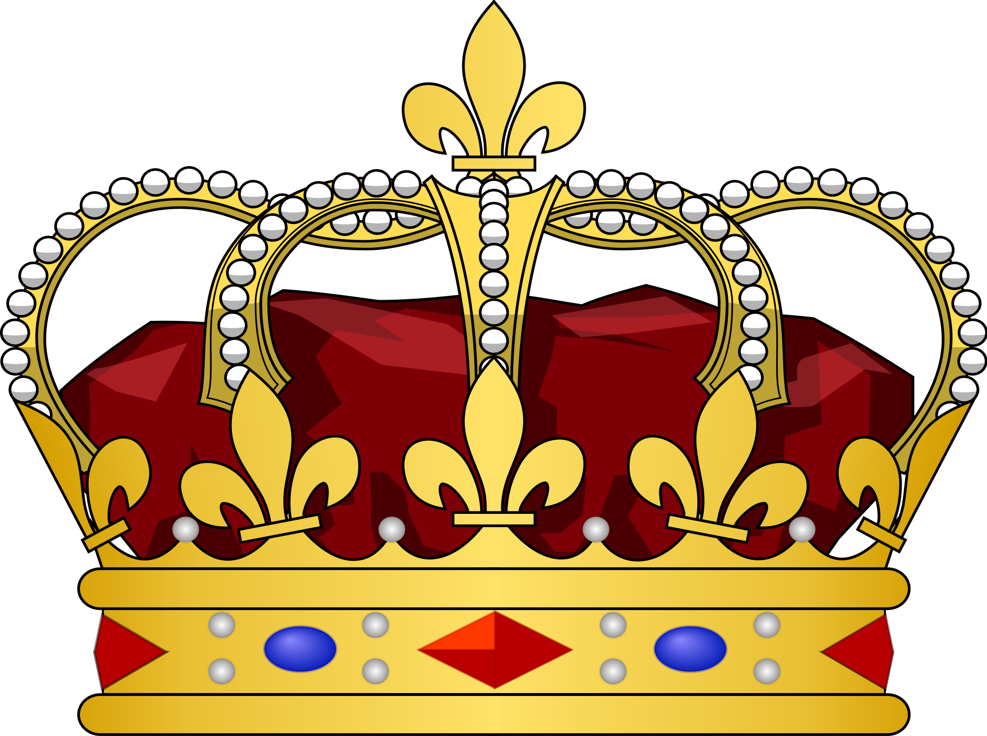 Crown clip royalty free. File french heraldic crowns