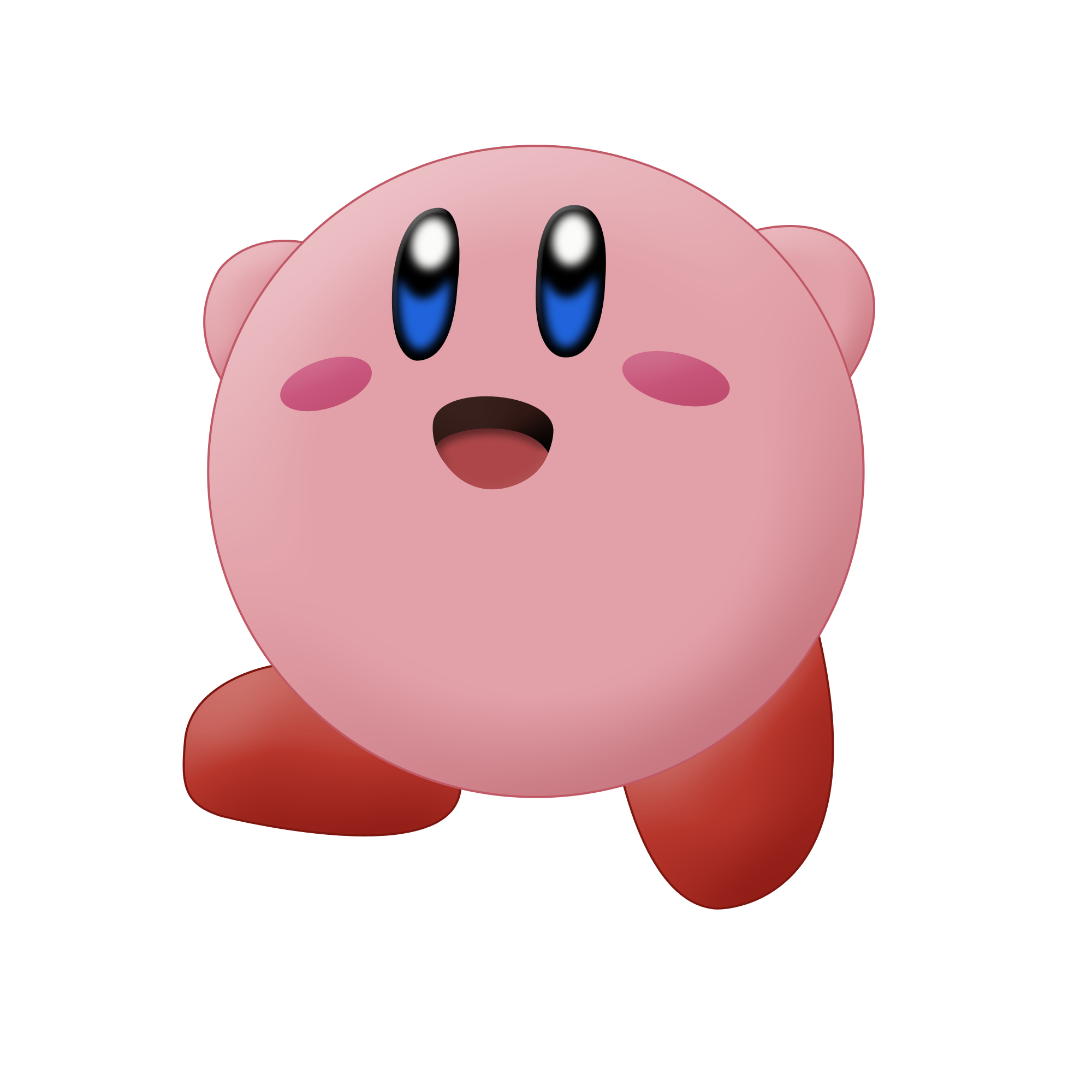 Kirby vector. By ajdispirito on deviantart
