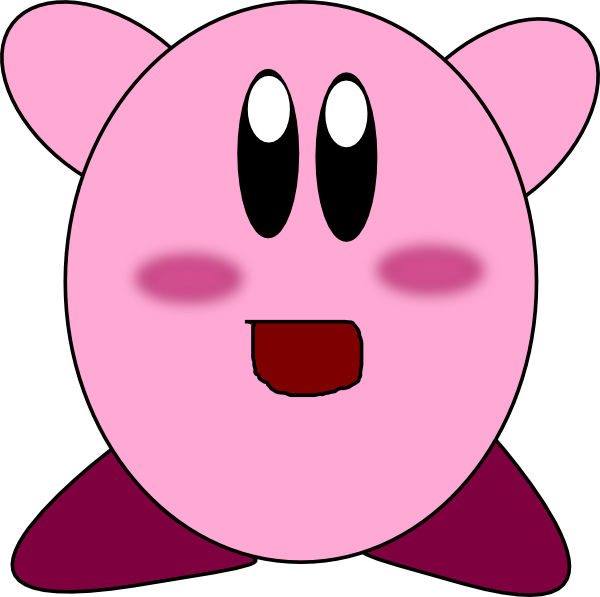 Clip art at clker. Kirby vector image library download