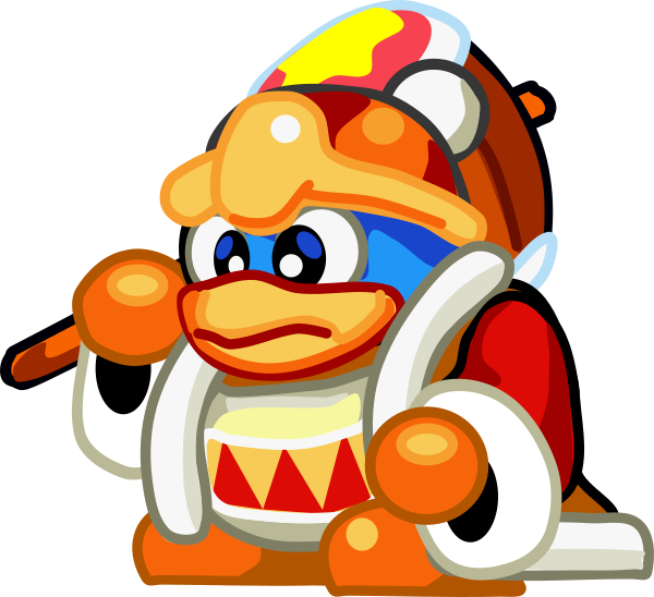 Art king dedede by. Kirby vector svg royalty free
