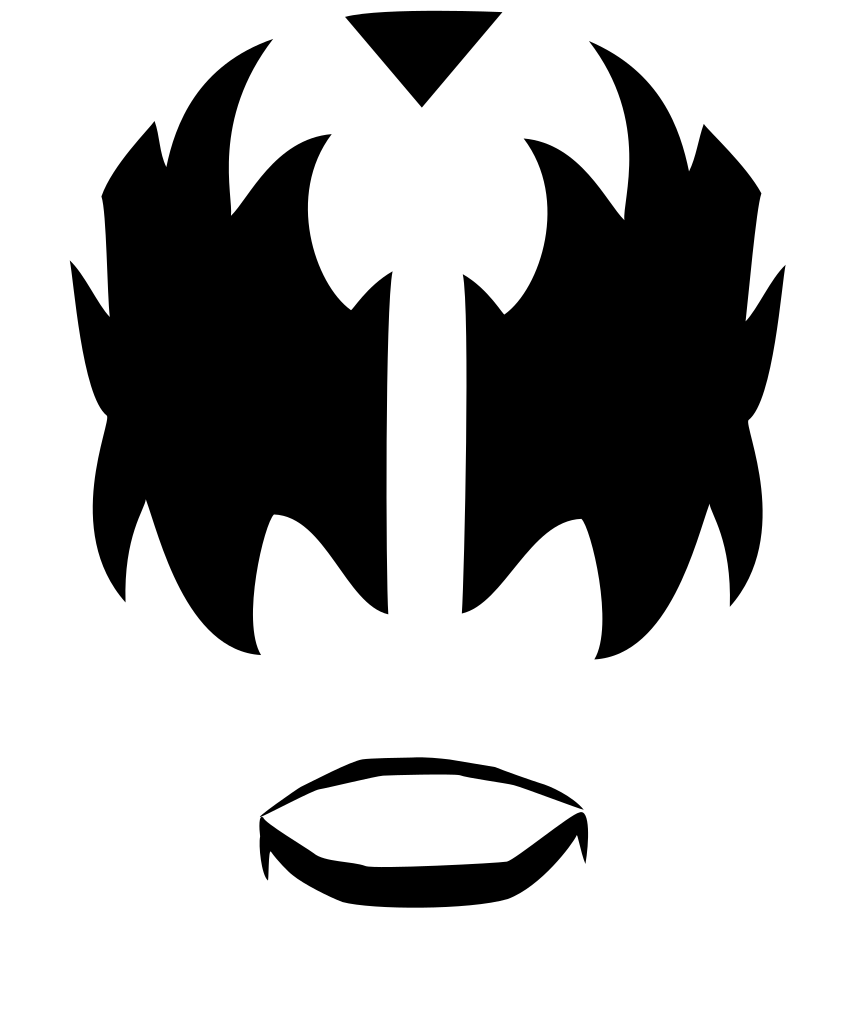 Kiss band logo png. File devil face svg