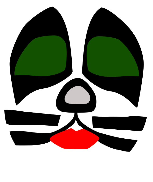 Kiss band png. Archivo cat face svg