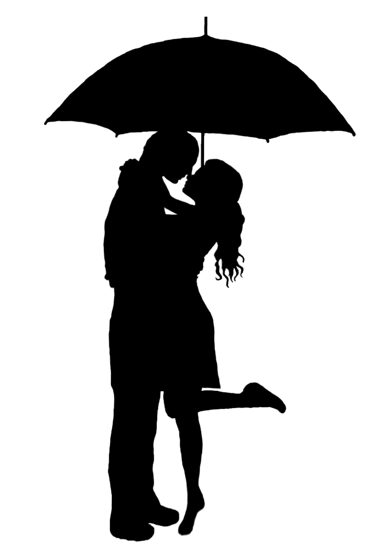 Kiss clipart black and white. Two people kissing clip