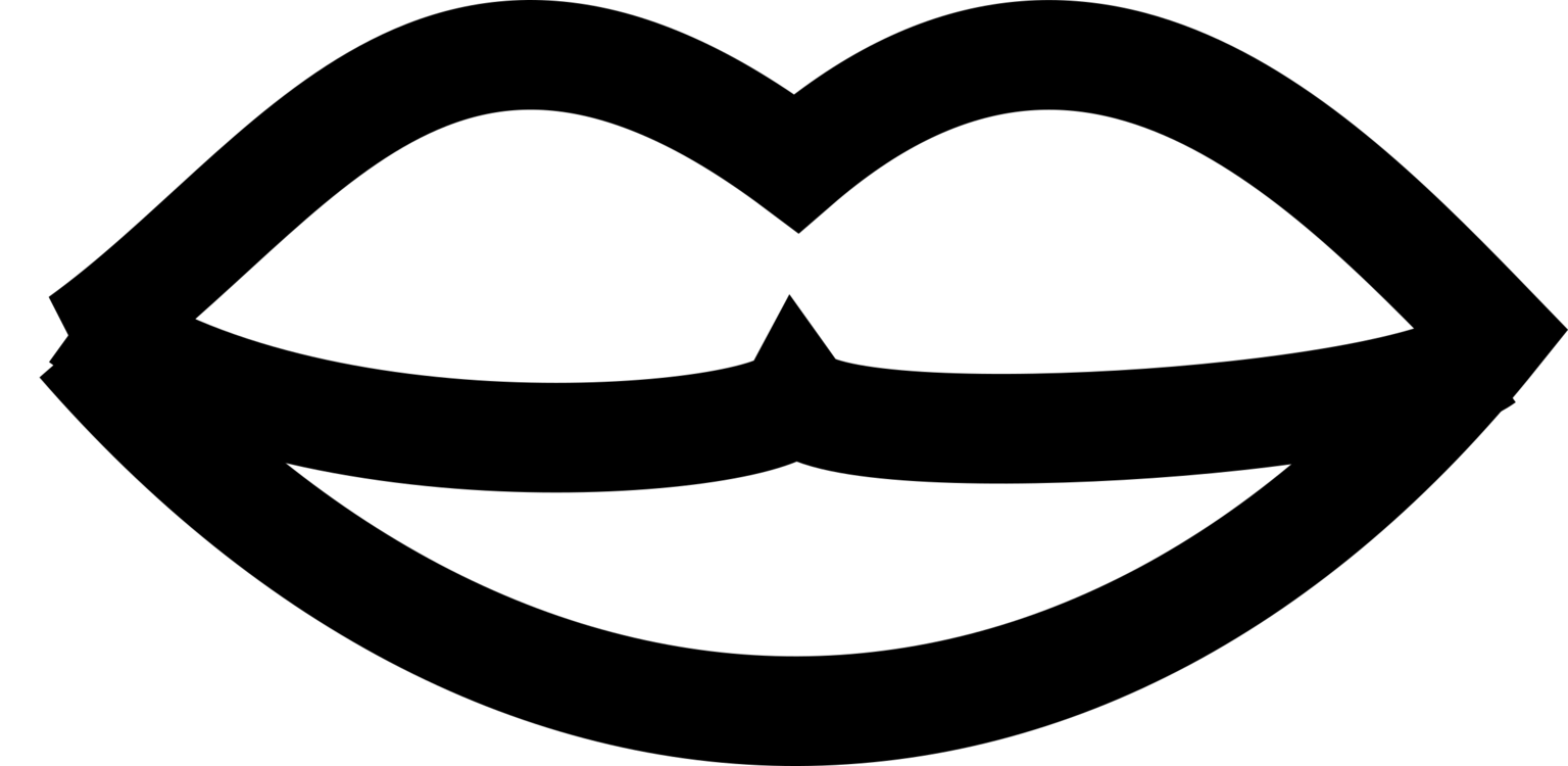 Kiss clipart black and white. Mouth lip download free