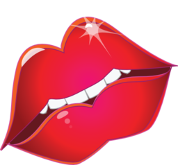 Kiss clipart emoticon. Red lips smiley i