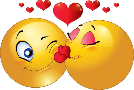 Kiss clipart emoticon. Kissing couple smiley i