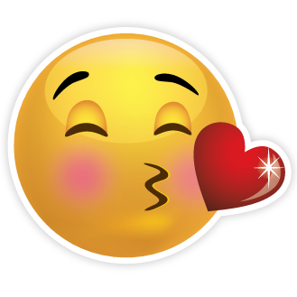Kiss clipart emoticon. Blowing kisses emoji smiley