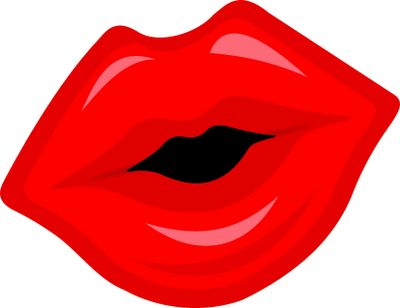 Kiss clipart lip style. Kissing lips drawing at