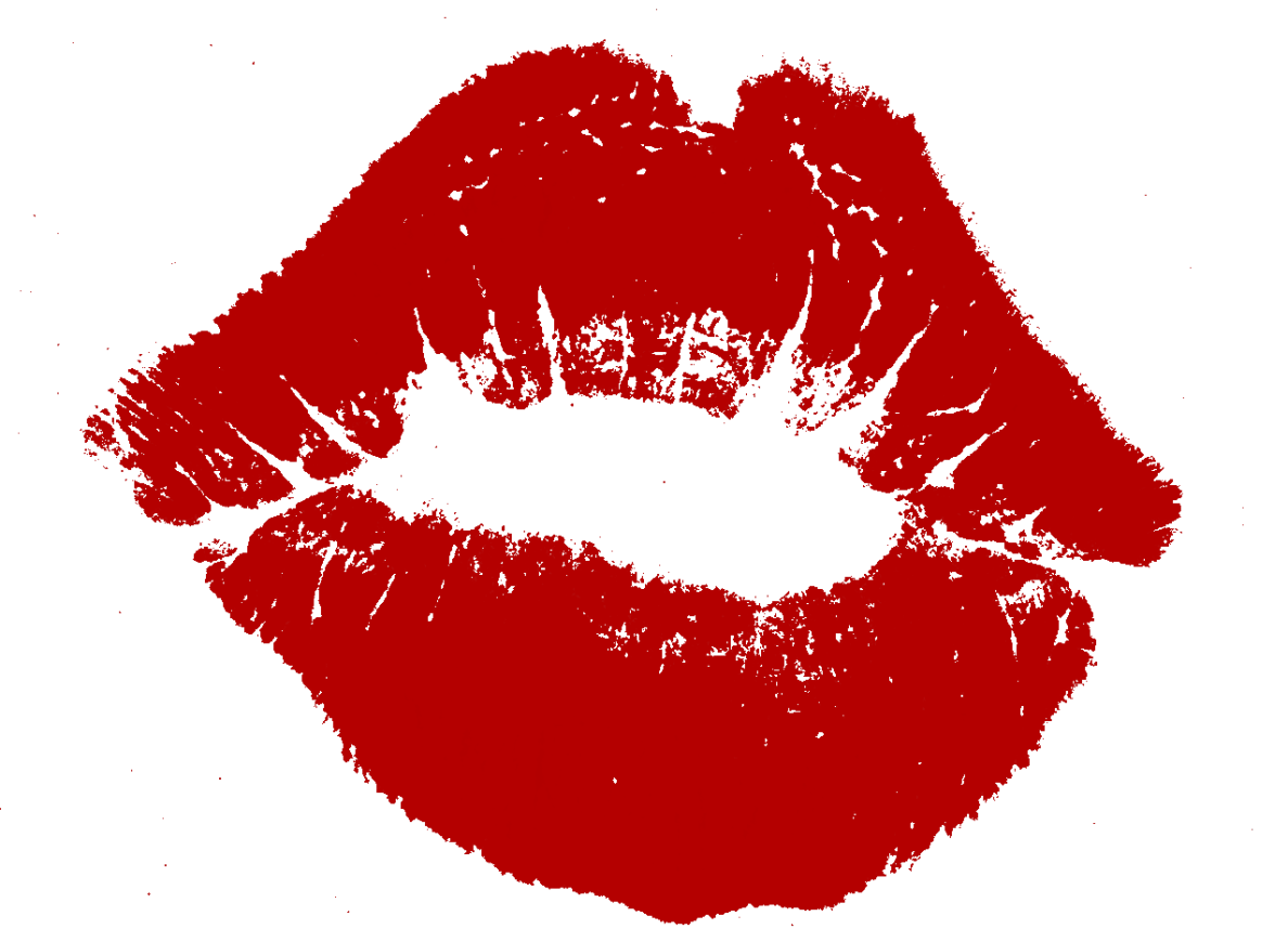 Kiss clipart woman kiss. Kisses red lips