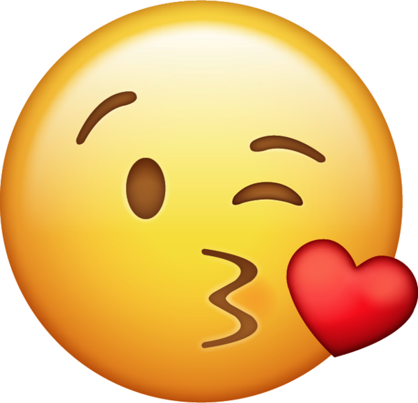 Kiss emoji png. Download with heart iphone