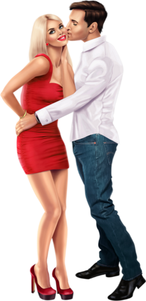 Kissing couple png. Official psds share this