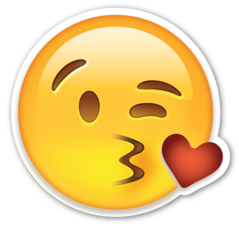 Kissy face emoji png. Smiling with heart shaped