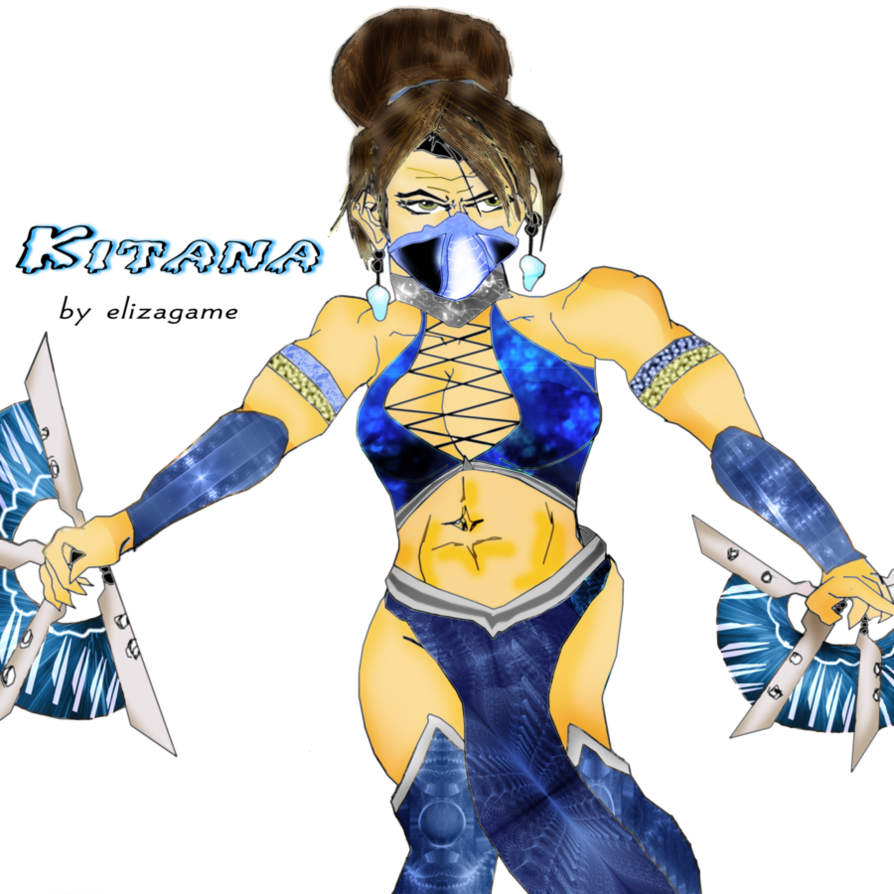 Kitana drawing. Png by elizagame on