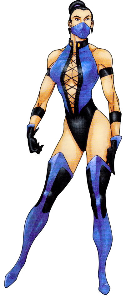 Kitana drawing concept art. From the mortal kombat