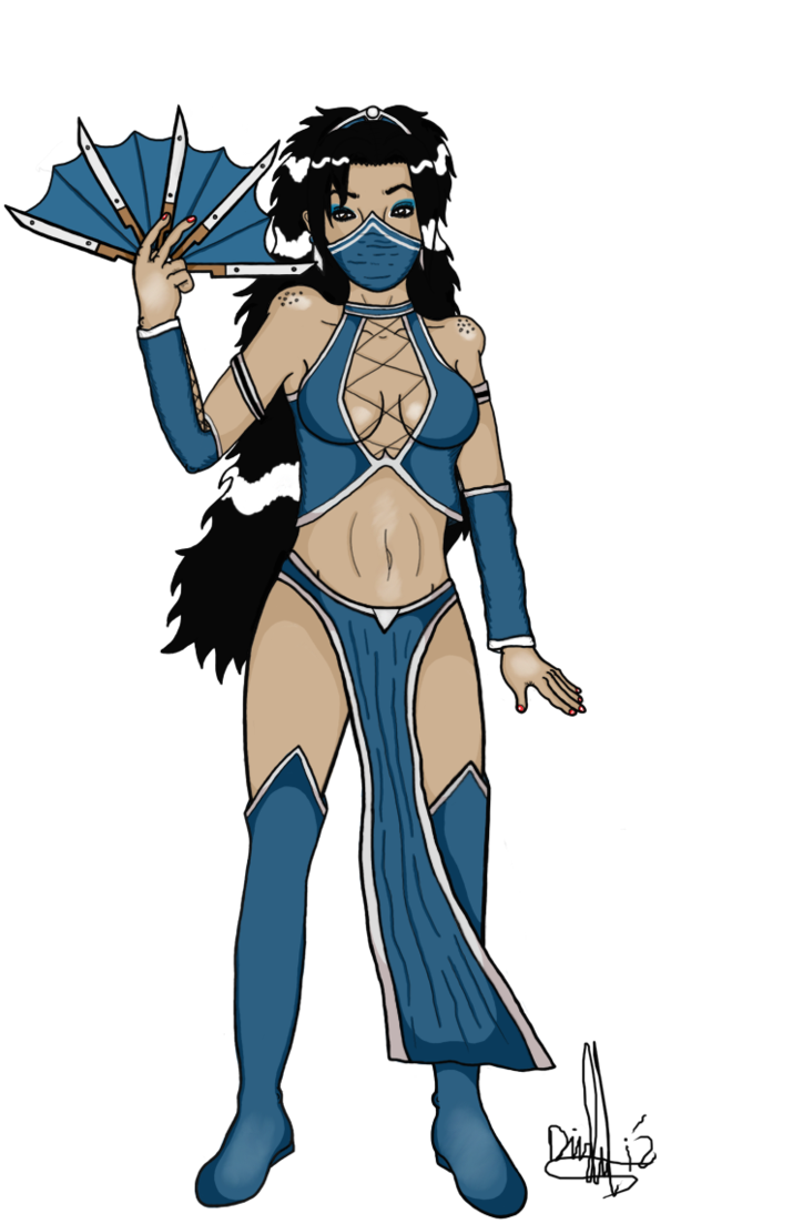 Kitana drawing face. You will learn respect