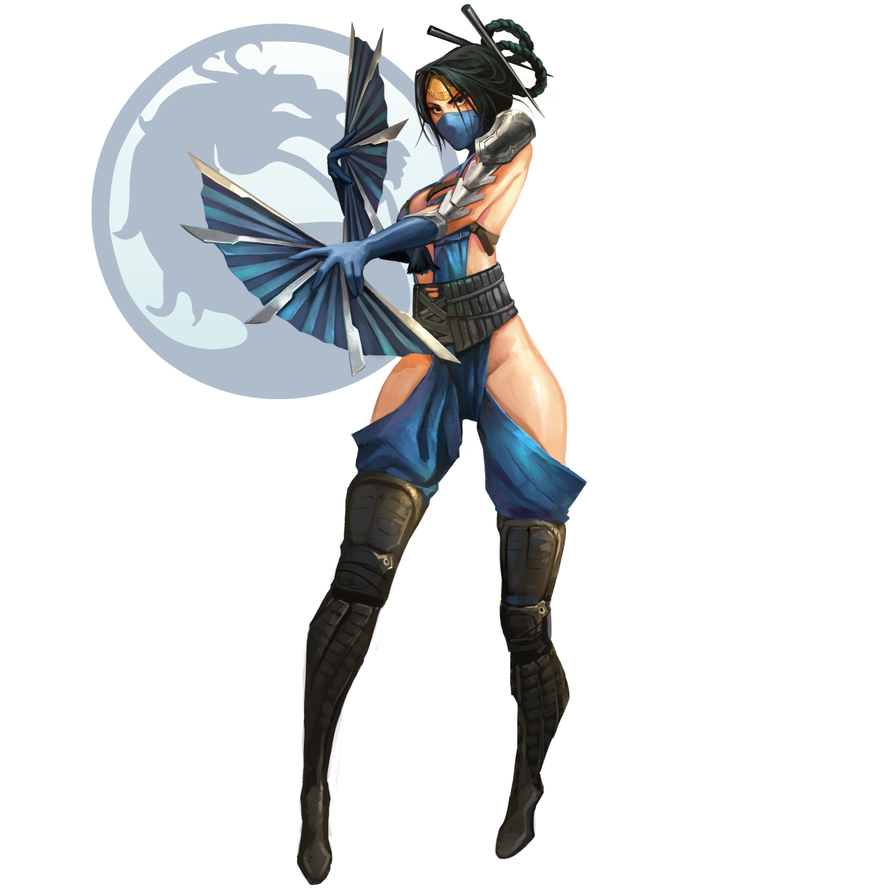 Kitana drawing painting. Fan page nikusenpai evo