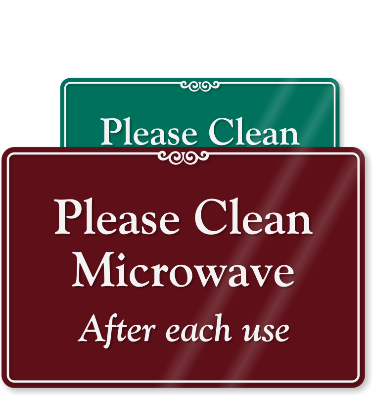 Kitchen clip clean. Signs courtesy at best