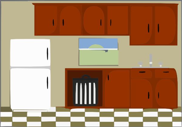 Pictures clipart kitchen. Clip art at clker