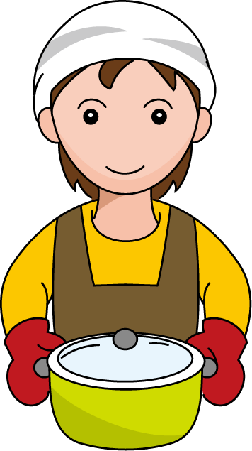 Kitchen man cooking panda. Cook clipart graphic black and white stock