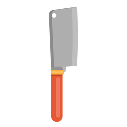 Kitchenware vector butcher tool. Knife download cleaver icon