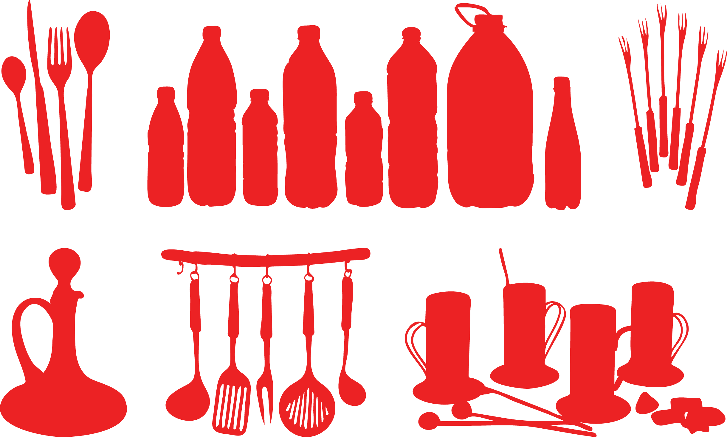 Kitchenware vector kitchen cutlery. Utensil silhouette at getdrawings