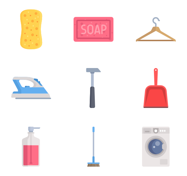Kitchenware vector. Icons free furniture and