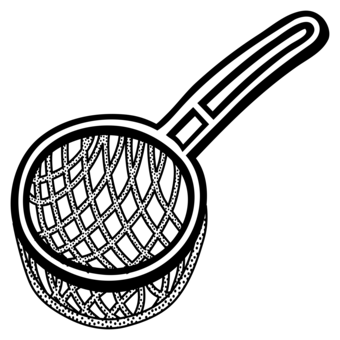 Kitchenware vector sieve. Kitchen stainless steel strainer