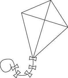 Kite clipart black and white. Fish fishing etc dise