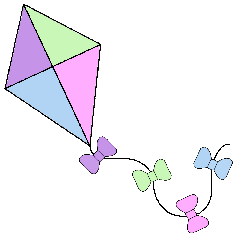 kite clipart old