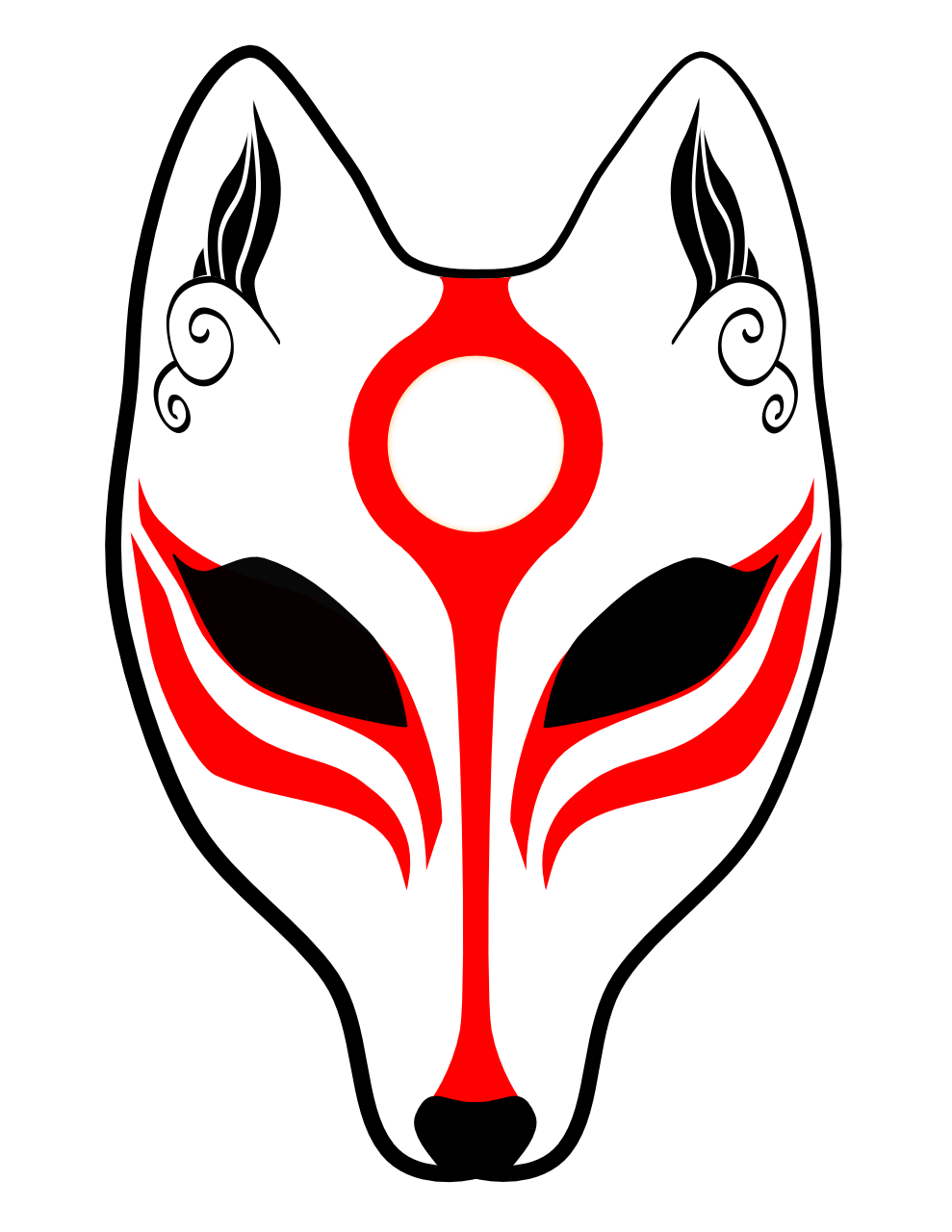 Kitsune mask png. My first illustration with