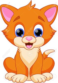 Kitten clipart colorful cat. Color page animal coloring