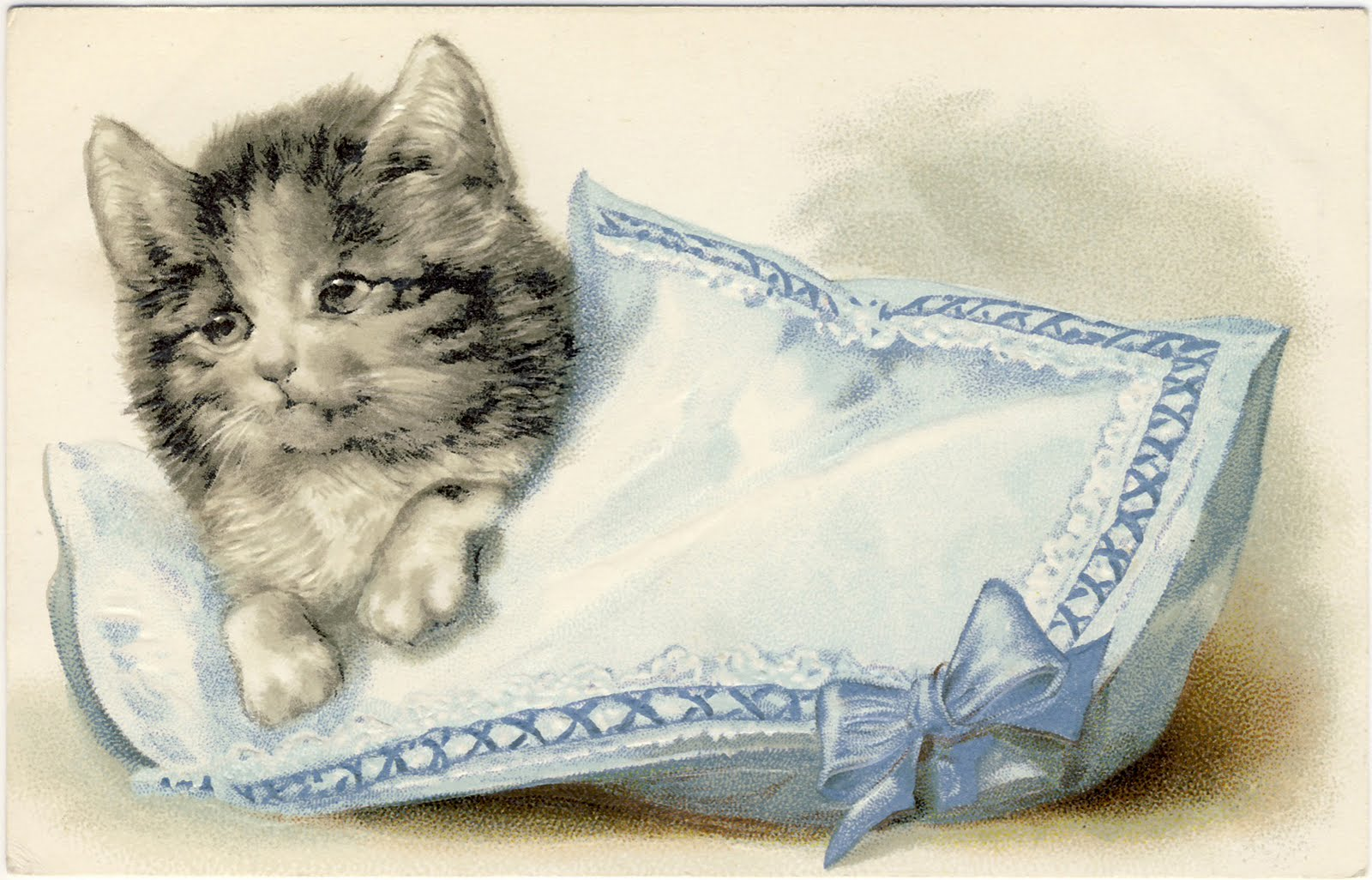 Kitty clipart vintage. Clip art adorable cats