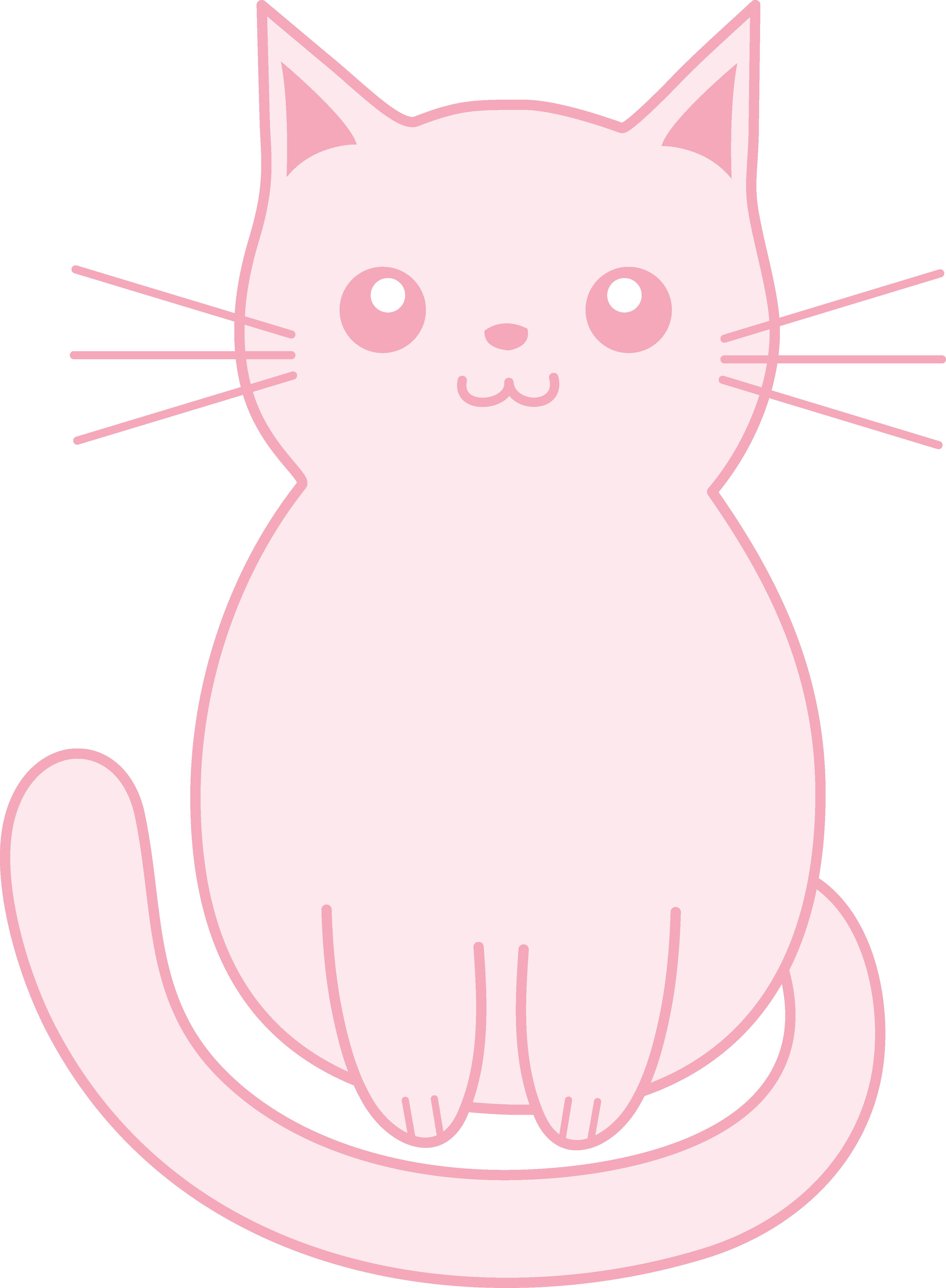 Kitten drawing png. Clipart cat sat frames