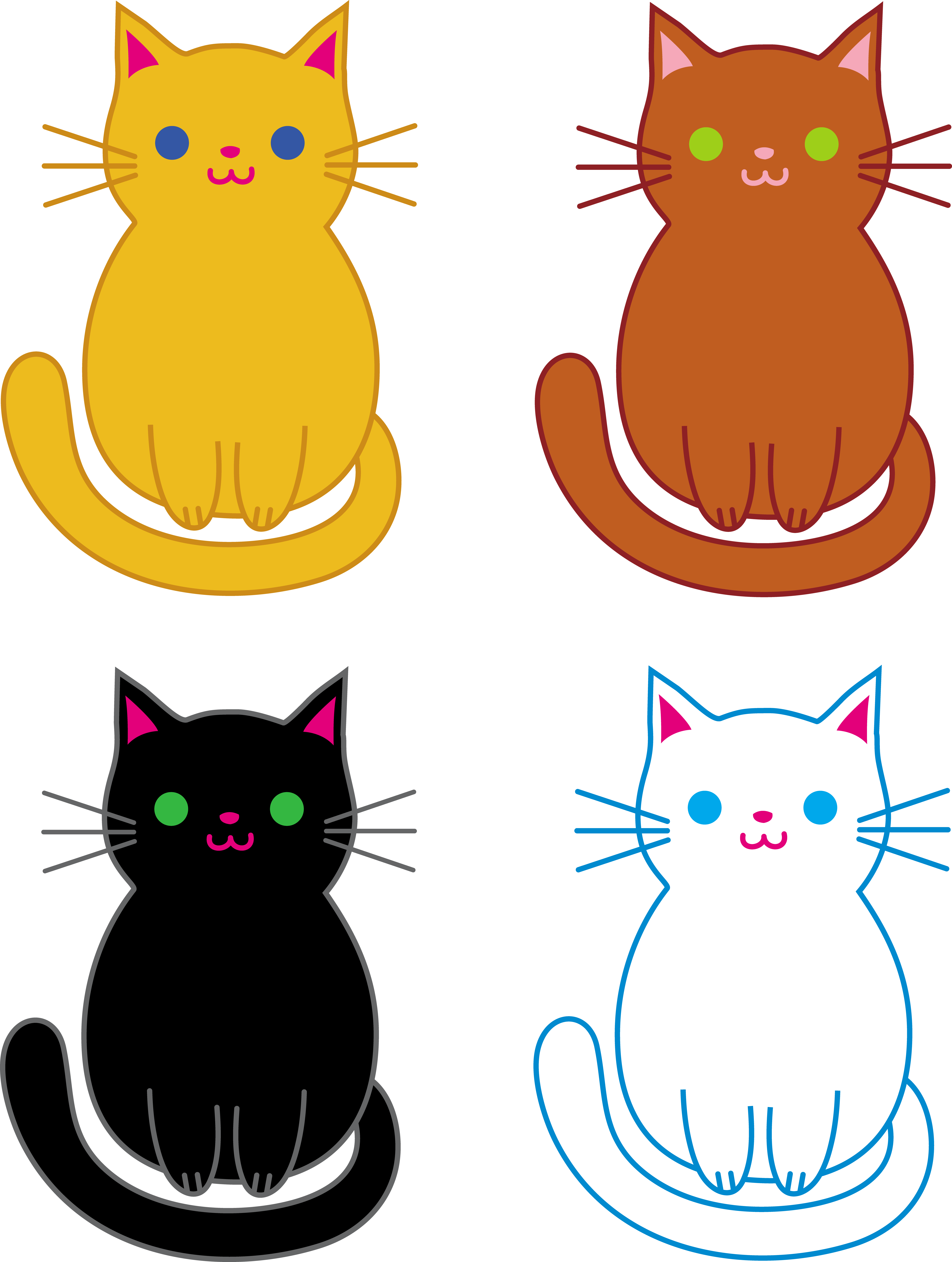 Three little clipart little kittens. Free clip art of