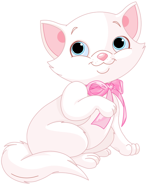 Kittens clipart pink cat. Pin by on things