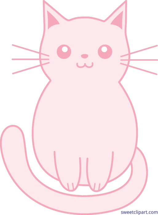 Kittens clipart pink cat. Kitten clip art sweet