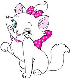 Kittens clipart pink cat. Marie pinterest costumes and