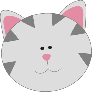 Kittens clipart pink cat. Clip art images gray