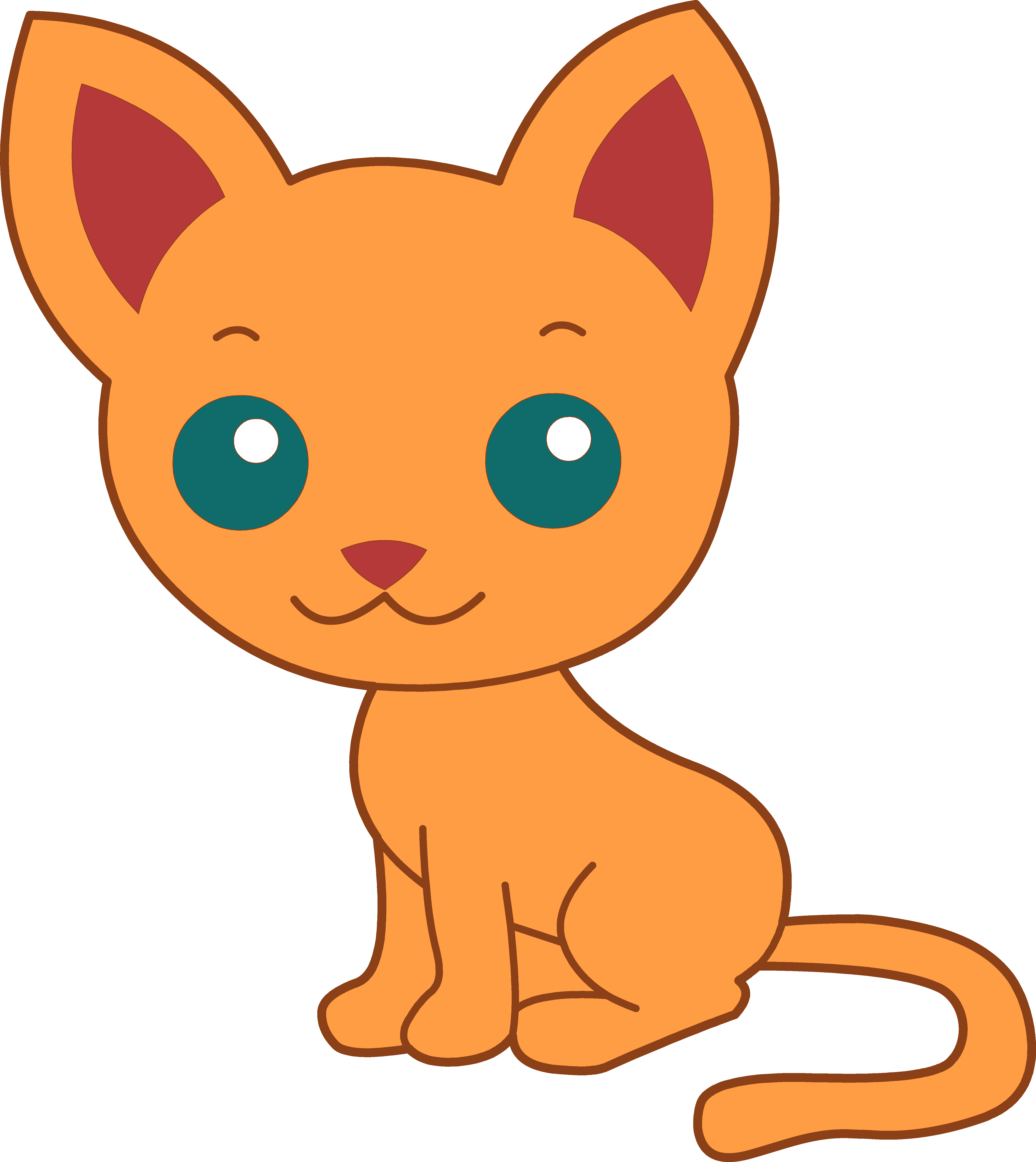 Kittens transparent cartoon. Collection of kitten