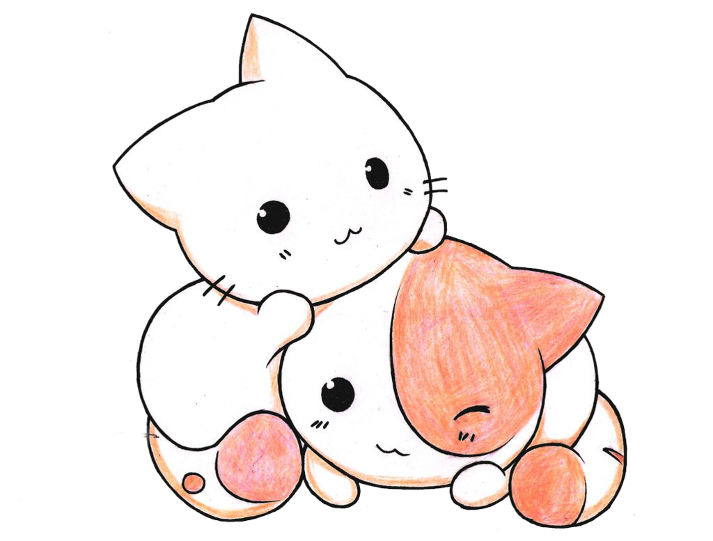Kittens transparent kawaii. Jpg royalty free