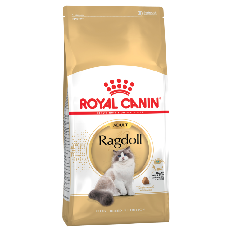 Kittens transparent royal. Ragdoll cat food for