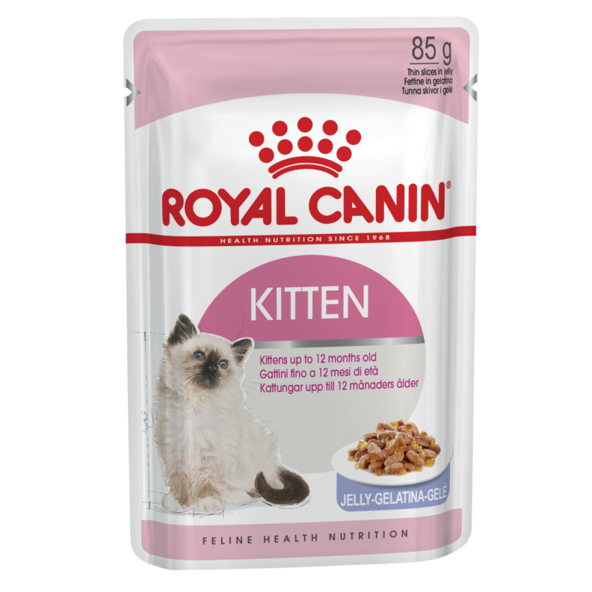 Kittens transparent royal. Canin cat pouch kitten