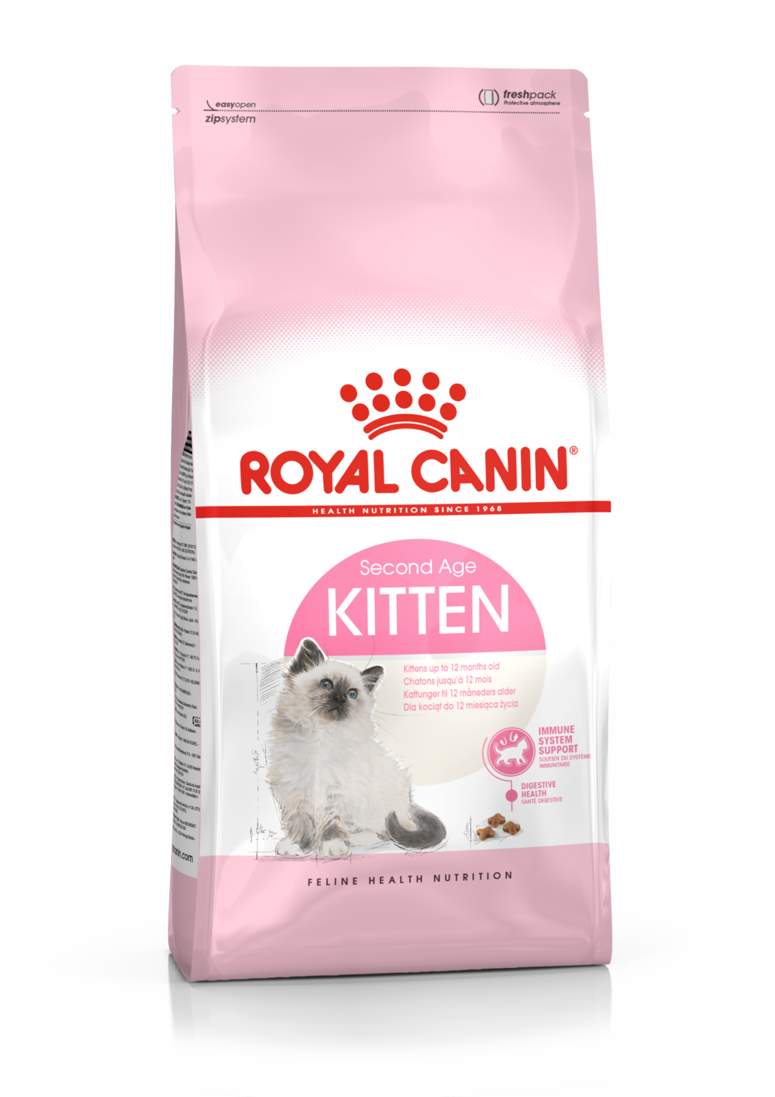 Kittens transparent royal. Kitten cat food canin