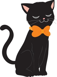 Kitty clipart. Free black cat image