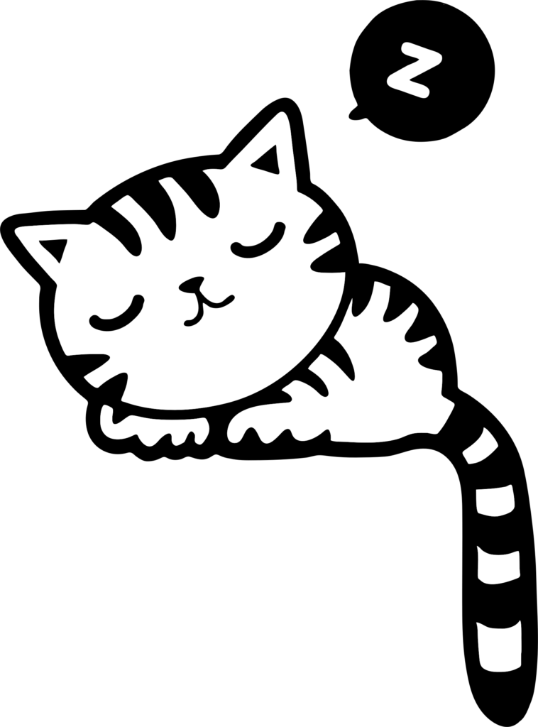 Kitty clipart. Sleeping of a cat
