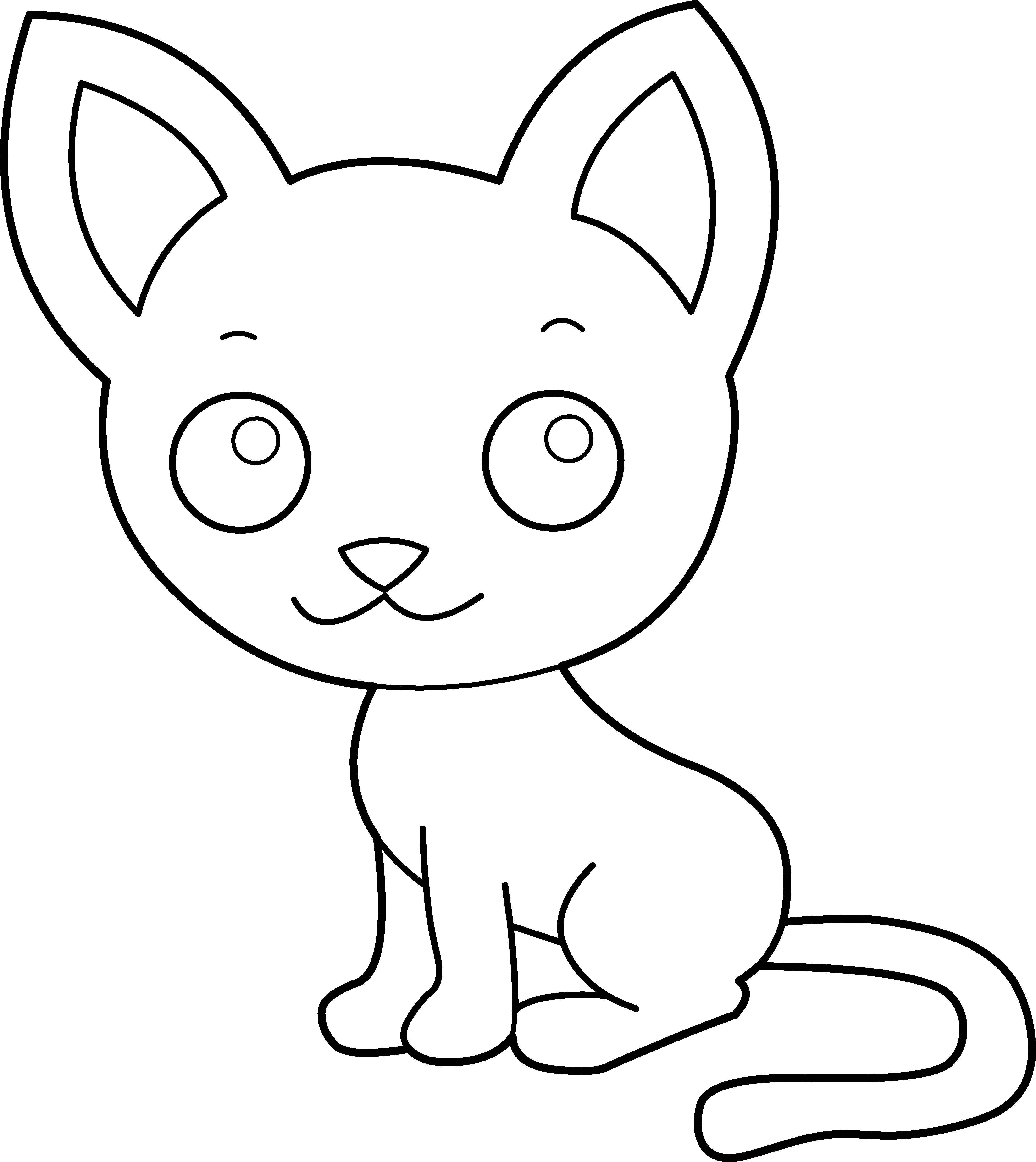 Kitty clipart big cat. Free cartoon kitten images